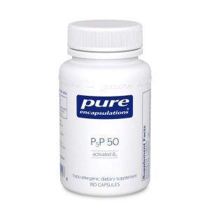 Витамин B6 (Пиридоксаль-5-Фосфат), P5P 50 (vitamin B6), Pure Encapsulations, для поддержки метаболизма, 180 капсул