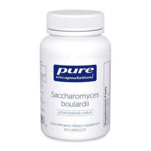 Сахаромицеты Буларди, Saccharomyces Boulardii, Pure Encapsulations, для баланса кишечной флоры, 60 капсул