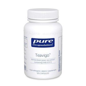 Высокоочищенный экстракт зеленого чая, Teavigo, Pure Encapsulations, 120 капсул