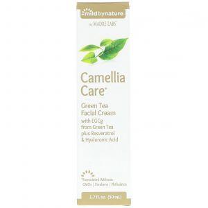 Крем для лица с зеленым чаем, Green Tea Facial Cream, Mild By Nature, 50 мл