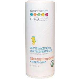 Присыпка для младенцев, Fragrance Free, Nature's Baby Organics, 113,4 г