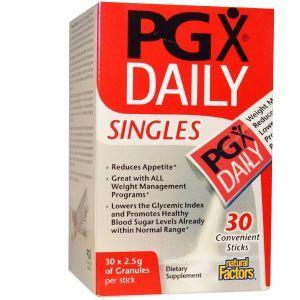 PGX (полигликомплекс), Natural Factors, 30 пакетов