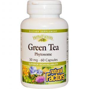 Зеленый чай экстракт, Natural Factors, 50 мг, 60 капсул
