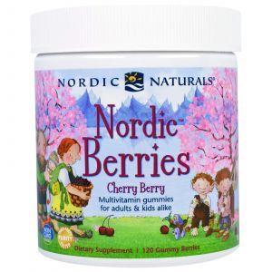 Северные ягоды: вишня (поливитамины) (Cherry Berry), Nordic Naturals, 120 штук