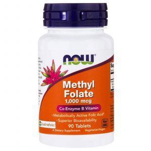 Метил-фолат, (Methyl Folate), Now Foods, 1,000 мкг, 90 таблеток