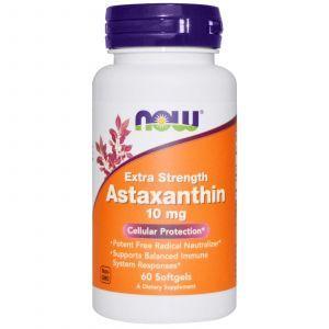 Астаксантин, (Extra Strength Astaxanthin), Now Foods, 10 мг, 60 капсул