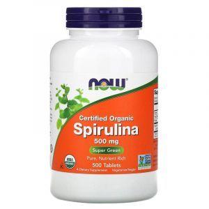 Спирулина, Spirulina, Now Foods, 500 мг, 500 табле