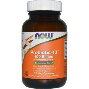 Пробиотик-10, Now Foods, 30 капсул