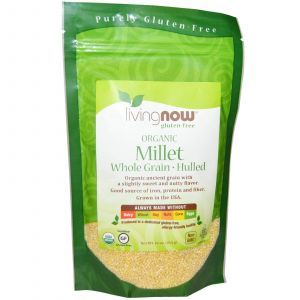 Просо, зерно, (Organic Millet Whole), Now Foods, 454 г
