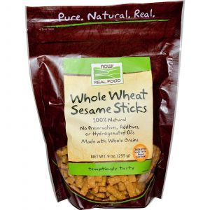 Now Foods, Real Food, Whole Wheat Sesame Sticks
