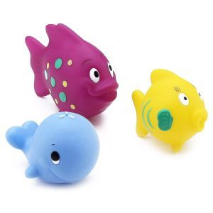 Игрушки для ванной рыбки, Fun Fish Squirters, Nuby, 3 шт