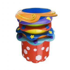 Пирамидка из стаканчиков, Splash Stacking Cups, Nuby, 5 шт