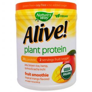 Вегетарианский протеин, манго, Plant Protein, Nature's Way, 420 г