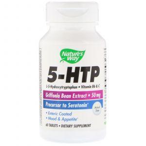 5-НТР,  5-HTP, Nature's Way, 60 таблеток