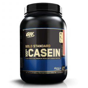 Казеиновый протеин со вкусом клубничного крема, Casein, Optimum Nutrition, 909г