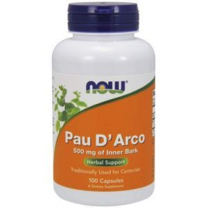 По д'арко, Pau D' Arco, Now Foods, 500 мг, 100 капсул