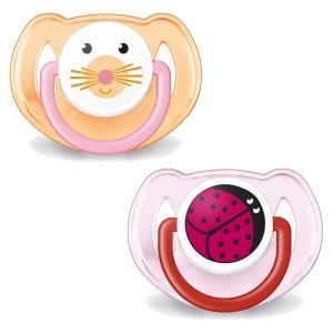 Ортодонтическая пустышка для малышей, Orthodontic Pacifiers, 6-18 мес., Philips Avent, 2 шт