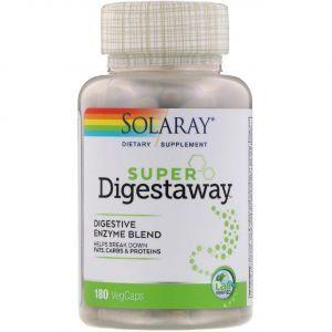 Супер ферменты для пищеварения, Super Digestaway, Solaray, 180 капсул