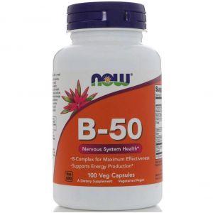 Витамины группы В, B-50, Now Foods, 100 капсул