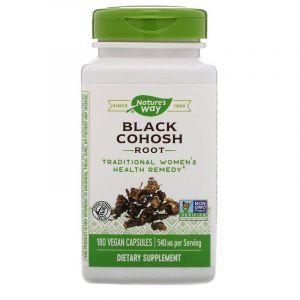Клопогон (Цимицифуга), Black Cohosh, Nature's Way, корень, 540 мг, 180 капсул
