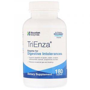 Пищеварительные ферменты, TriEnza with DPP IV Activity, Houston Enzymes, 180 капсул