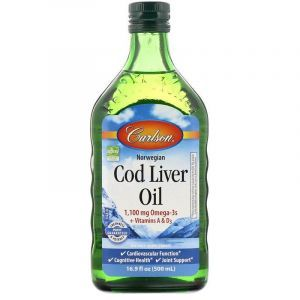 Рыбий жир из печени трески, Cod Liver Oil, Carlson Labs, норвежский, 500 мл