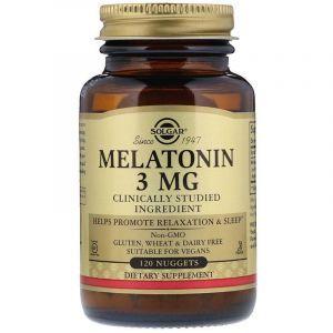 Мелатонин, Melatonin, Solgar, 3 мг, 120 таблеток