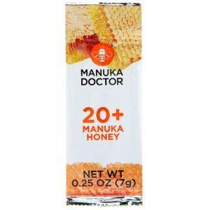 Манука мед 20+, Manuka Honey, Manuka Doctor, 24 пакета по 7 г
