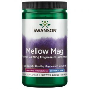 Магний, Mellow Mag, Swanson, 600 мг, малиново-лимонный вкус, 120 капсул