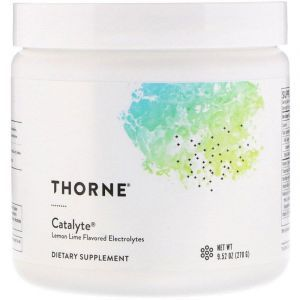 Электролит, Catalyte, Thorne Research, вкус лимона-лайма, 270 г