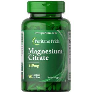 Магний цитрат, Magnesium Citrate, Puritan's Pride, 200 мг, 90 капсул