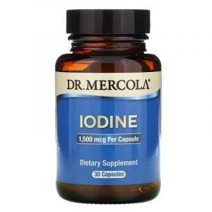 Йод, Iodine, Dr. Mercola, 1,5 мг, 30 капсул