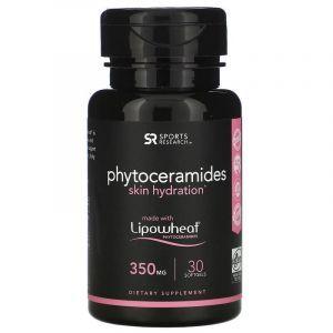 Фитокерамиды 350 мг, Phytoceramides Lipowheat, Sports Research, 30 капсул