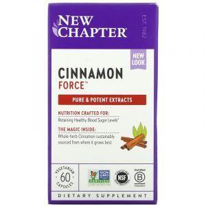 Корица, Cinnamon, New Chapter, 60 капсул