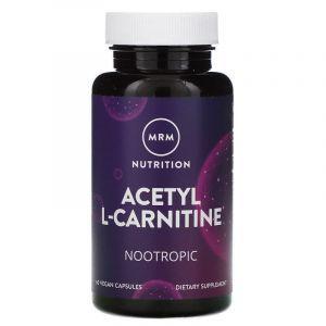 Ацетил карнитин, Acetyl-L-Carnitine HCl, MRM, 500 мг, 60 капсул (Default)