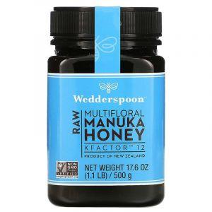 Мед Манука, Raw Manuka Honey , Wedderspoon Organic, 500 г.