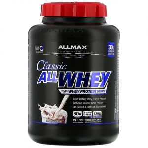 Смесь Чистого Сывороточного Протеина, Печенье и Сливки, AllWhey Classic, ALLMAX Nutrition, 2.27 кг.