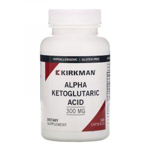 Альфа-кетоглутаровая кислота, Alpha Ketoglutaric Acid, Kirkman Labs, 300 мг, 100 капсул (Default)