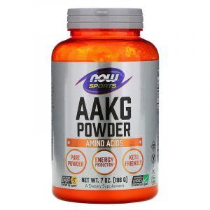 AAKG (L-аргинин-альфа-кетоглютарат), Now Foods, 198