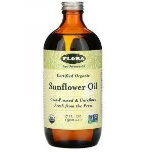 Подсолнечное масло (Sunflower Oil), Flora, 500 мл