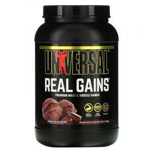 Гейнер, вкус шоколадного мороженного, (Real Gains), Universal Nutrition, 1.73 кг
