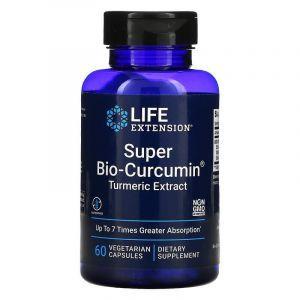 Куркумин, Bio-Curcumin, Life Extension, супер-био, 400 мг, 60 ка
