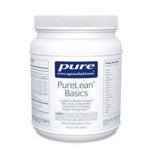 Протеиновая смесь со вкусом ванили (с стевией), PureLean® Protein Blend Basics, Pure Encapsulations, 500 гр.