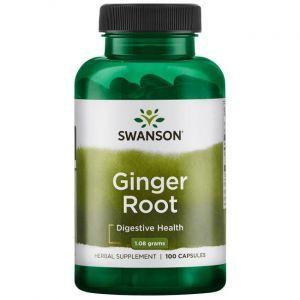 Корень имбиря, Ginger Root, Swanson, 540 мг, 100 капсул