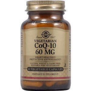 Коэнзим Q10 вегетарианский, CoQ-10, Solgar, 60 мг, 60 капул