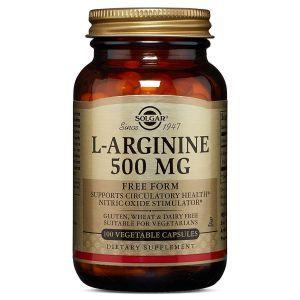 Аргинин, L-Arginine, Solgar, 500 мг, 100 капсул (Default)