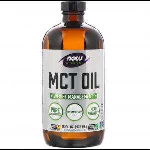 Масло МСТ, MCT Oil, Sports, Now Foods, без вкуса, 473 мл
