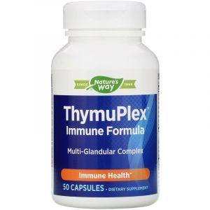 Иммунная поддержка, ThymuPlex, Enzymatic Therapy, 50 капсул