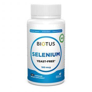 Селен, Selenium, Biotus, без дрожжей, 100 мкг, 100 капсул