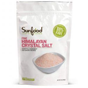 Гималайская кристаллическая соль, Himalayan Salt, Sunfood, 454 г